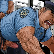 Cock tortures for animated policeman
